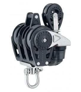 Harken 40 mm Rätschblock dreifach mit 471 Carbo-Cam und 29 mm Block