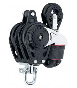 Harken 57 mm Carbo autom. Rätschblock dreifach mit 150 Cam-Matic, 40 mm Block und Hundsfott