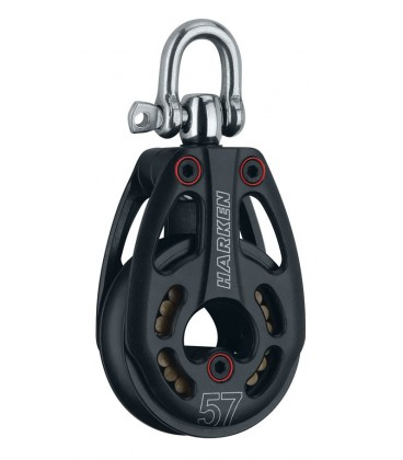 Harken 57 mm Black Magic Air Block lo-load mit Wirbel