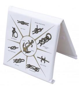 Doppelkissen für Reling, 90 (offen) x 37 x 3cm, weiss mit Knoten