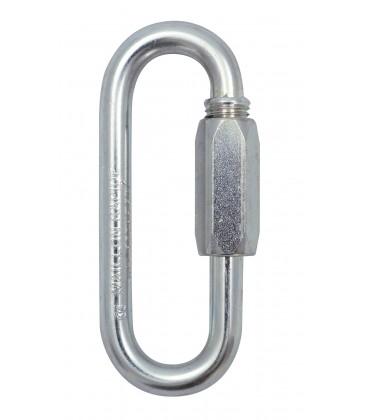 Schraubglied aus feuerverzinktem Stahl, grosse Öffnung, Ø 8 mm bis 12 mm