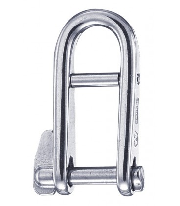 Wichard Schlüsselschäkel mit Steg, aus rostfreiem Stahl 316L
