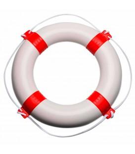 Weisser Rettungsring mit roten Streifen, 57 cm