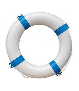 Weisser Rettungsring mit blauen Streifen, 65 cm