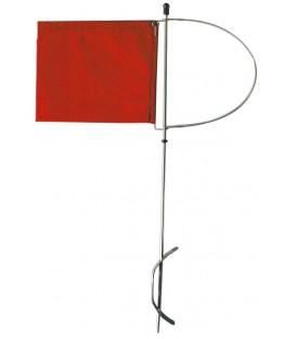 Stander aus rotem Nylonsgewebe, kleines Modell