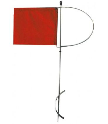 Stander aus rotem Nylongewebe, grosses Modell