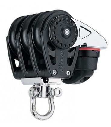 Harken 40 mm Carbo Air Dreifachblock mit Wirbel und Carbo Cam