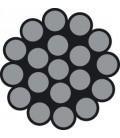 Hartes Edelstahl-Drahtseil, 1 X 19 Drähte (DIN 3053)