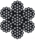 Extraweiches Edelstahl-Drahtseil, 7 X 19 Drähte (DIN 3060)