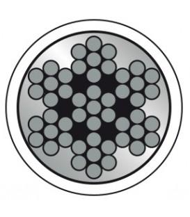 Extraweiches Edelstahl-Drahtseil, 7 X 7 Drähte (DIN 3060), mit PVC-Mantel