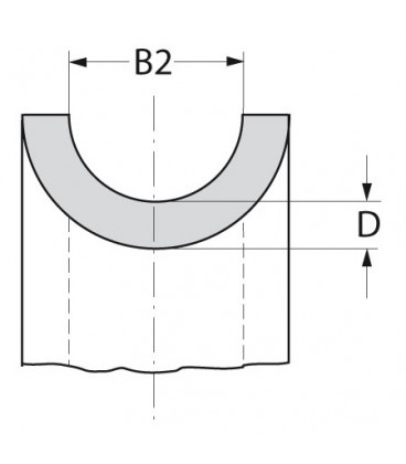 Kausche aus Edelstahl, herzförmig