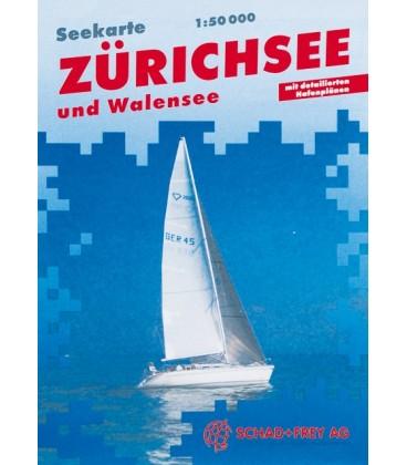 Karte Zürich- und Walensee